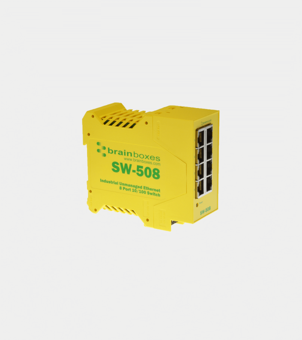SW-508 - Industrial Ethernet 8 Port Switch DIN Rail Mountable