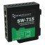 SW-715 Hardened Industrial 5 Port Gigabit Ethernet Switch DIN Rail Mountable