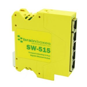 SW-515 Compact Industrial 5 Port Gigabit Ethernet Switch DIN Rail Mountable