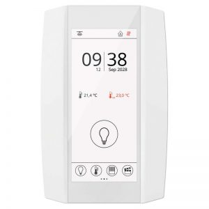 NOVOS Touch white CO2+VOC Temp_rH RS485 room controller